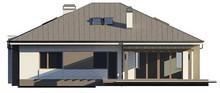 Проектдома с тремя спальнями и фронтальным гаражом