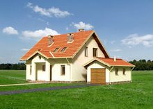 Оригинальная усадьба с балконом и лаконичным дизайном