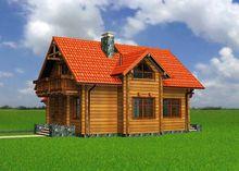 Проект чудесного загородного дома из дерева с шестью спальнями