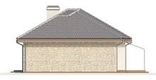 Проект одноэтажного коттеджа с гаражом для двух авто и хозяйственным помещением