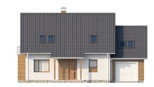 Проект дома с мансардой над гаражом