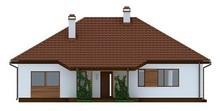 Проект одноэтажного коттеджа с оранжереей и террасой