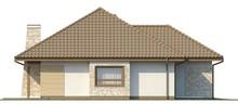 Проект одноэтажного коттеджа с гаражом и мансардой