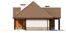Проект дома в ретро стиле с четырехскатной крышей