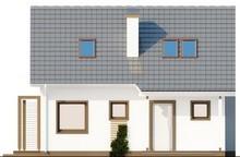 Проект белого коттеджа с мансардой, выполненного в классическом стиле