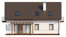 Проект семейного дома с мансардой и с дополнительной спальней