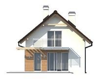 Проект небольшого дачного дома с мансардой