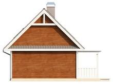 Проект небольшого дачного домика с фронтальной террасой