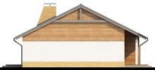 Проект одноэтажного коттеджа с тремя спальнями и двускатной крышей