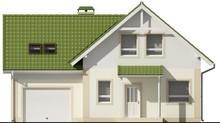 Проект одноэтажного дома с мансардой, гаражом и зеленой крышей