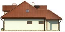 Проект дома с гаражом, эркером, мансардой с красивыми окнами