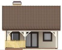 Проект небольшого дома с крытой террасой