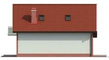 Проект частного загородного светлого коттеджа с мансардой
