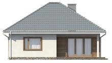 Проект одноэтажного дома с крытой террасой