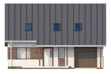 Проект аккуратного коттеджа со встроенным гаражом для одной машины