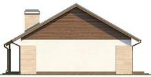 Одноэтажный загородный коттедж с чердаком