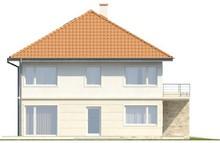 Проект двухэтажного дома с террасой над гаражом