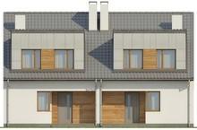 Проект современного двухэтажного коттеджа на две семьи с раздельными входами