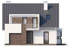 Проект современного дома с гаражом