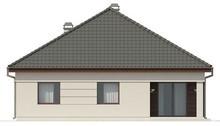 Одноэтажный коттедж с угловой террасой
