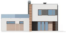 Современный проект двухэтажного коттеджа с гаражом