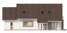 Проект большого дома с мансардой и гаражом