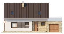 Проект коттеджа с мансардой, кабинетом и террасой над гаражом