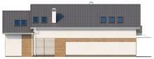 Проект коттеджа с эркером и мансардой для узкого участка