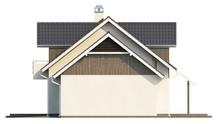 Проект большого коттеджа с гаражом, мансардой и дополнительной спальней