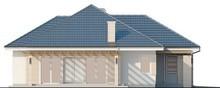 Проект уютного классического одноэтажного дома с гаражом для 1 машины