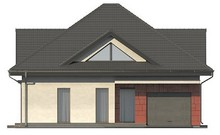 Проект дома со встроенным гаражом и остекленной гостиной