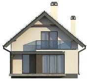 Проект узкого дома с мансардой в традиционном стиле