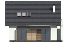 Проект простого дома с двускатной кровлей