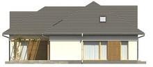 Проект дома с фасадными окнами на мансарде