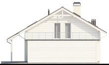 Проект яркого дома с большой террасой на втором этаже