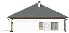 Проект дома с многоскатной крышей и открытой мансардой