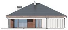 Проект одноэтажного коттеджа с фронтальным гаражом