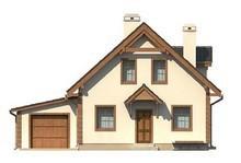 Симпатичный проект эко дома с гаражом