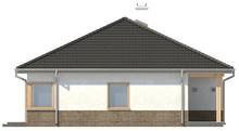 Проект одноэтажного дачного классического дома с четырехскатной крышей
