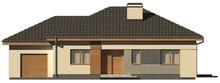 Проект одноэтажного коттеджа с гаражом