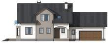 Проект аристократичного дома с гаражом для двух авто