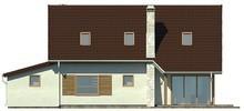 Проект экономичного коттеджа с мансардой и гаражом