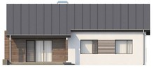 Проект одноэтажного дома с современными элементами фасадов