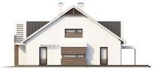 Проект современного стильного дома на две семьи