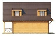 Проект дома с внешним камином