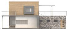 Проект современного дома с террасой над гаражом