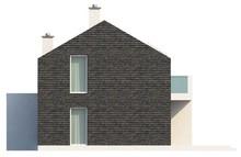 Проект современного коттеджа для узкого участка