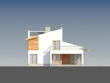 Проект комфортного дома с односкатной кровлей