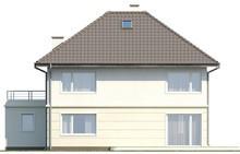 Проект дома с террасой над гаражом