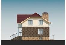 Проект классического коттеджа с мансардой и цокольным этажом